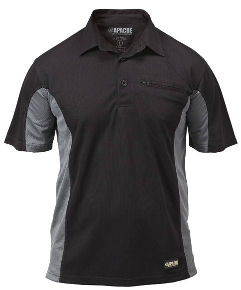 Apdmp Size L Black/grey Polo Shirt (sterling Safety)