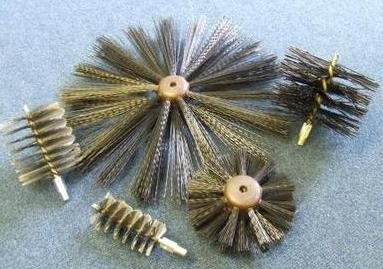 "Drain Equipment Poly Spiral Brushes 3"" C136"