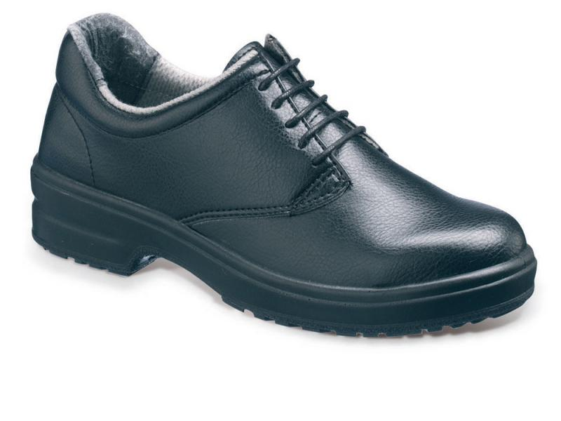 Ss200 Size 4 Ladies Black 5 Eyelet Safety Shoe (sterling Safety)