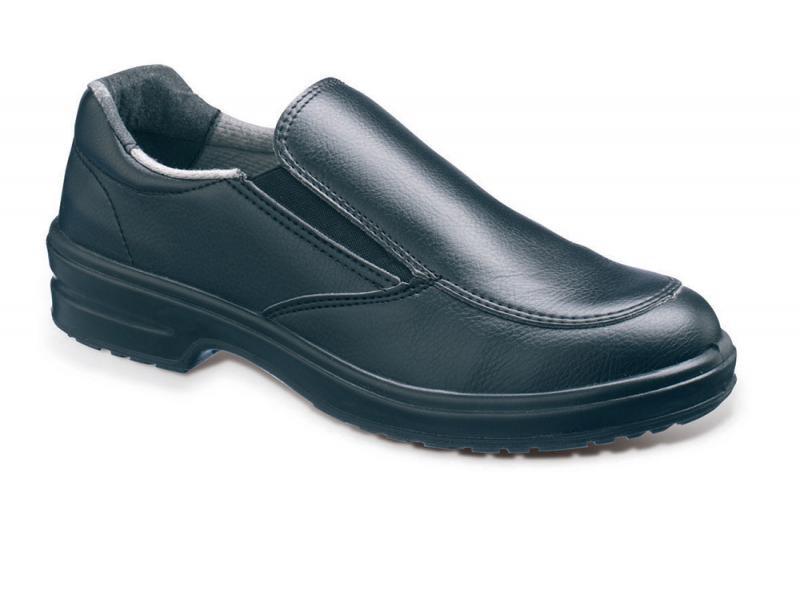 Ss201 Size 7 Ladies Black Slip On Safety Shoe (sterling Safety)