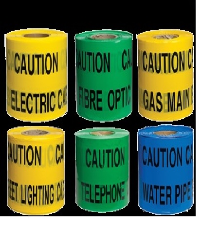 Tapes Underground Warning Tape Gas 365mtr C199