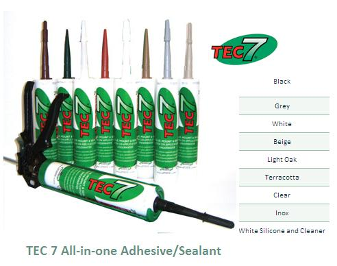 Tec 7 All-in-one Adhesive/sealant E12012 Black