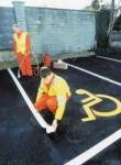 Thermoplastic Road Lines White Thermoplastic Road Marking Hotline The01