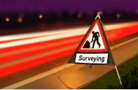 Roll Up Road Signs Road Works Ahead C/w Surveying Supp 750mm Rol3