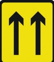 Signage Rectangular Plates Two Lane Closure 1000 X 1125mm Tra115