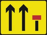 Signage Rectangular Plates Three Lane Closure 1100 X 900mm Tra116