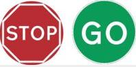 Stop/go Sign Stop/go 900mm Tra128