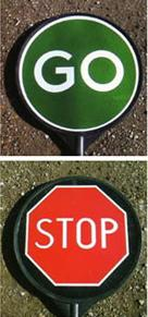 Stop/go Sign Plastic Stop/go Sign Tra131