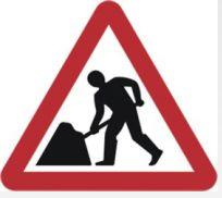 Triangular Road Sign Plates Plates Road Works Ahead 1200mm Tra32