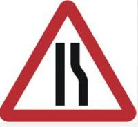 Triangular Road Sign Plates Plates Road Narrows Offside 750mm Tra37