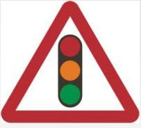 Triangular Road Sign Plates Plates Traffic Signals Ahead 600mm Tra39