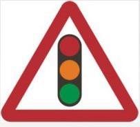 Triangular Road Sign Plates Plates Traffic Signals Ahead 1200mm Tra41