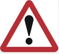 Triangular Road Sign Plates Plates Other Danger Ahead 750mm Tra43