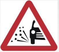 Triangular Road Sign Plates Plates Loose Chippings 600mm Tra45