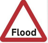 Triangular Road Sign Plates Plates Flood 1200mm Tra53