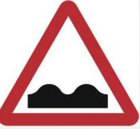 Triangular Road Sign Plates Plates Uneven Road Ahead 750mm Tra55