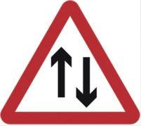 Triangular Road Sign Plates Plates Two-way Traffic 750mm Tra57