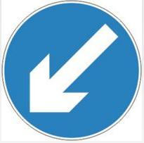 Signage Square Road Sign Plates Directional Arrow 1200mm Tra61