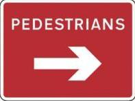 Signage Rectangular Plates Pedestrians Arrow (right) Tra63