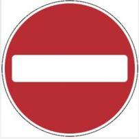 Signage Square Road Sign Plates No Entry 600mm Tra70
