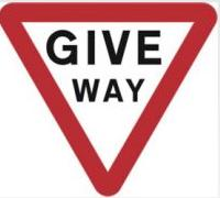 Signage Square Road Sign Plates Give Way 750mm Tra84