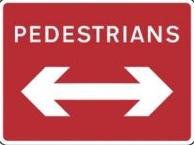 Signage Rectangular Plates Pedestrians Reversible Arrow Tra90