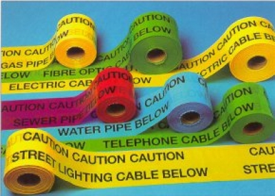 Underground Warning Tape Fire Main Warning Tape (red) 150mm X 365m Und18