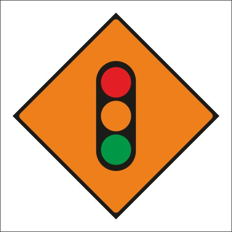 Roll Up Road Signs Wk060-temporary-traffic-lights. 600 X 600